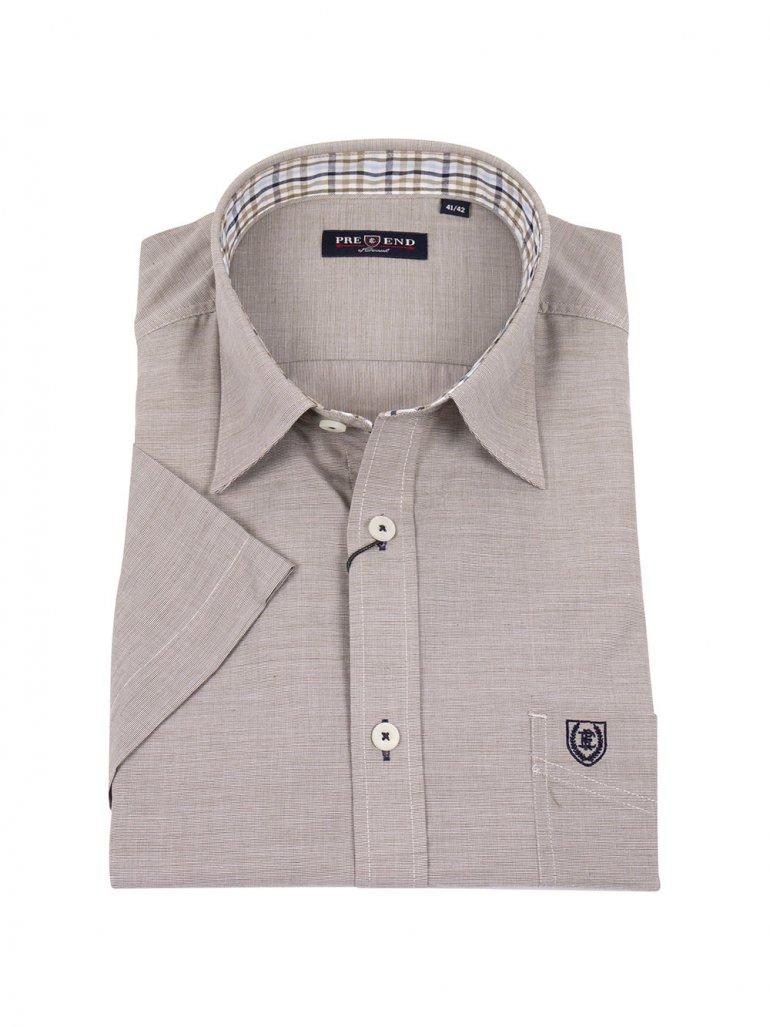 Pre End - Napoli kortærmet skjorte i oliven - Til herre - Størrelse: XL