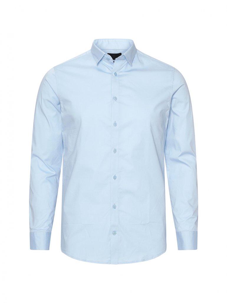 Gnious - Balder stretch skjorte i lyseblå - Til herre - Størrelse: Small