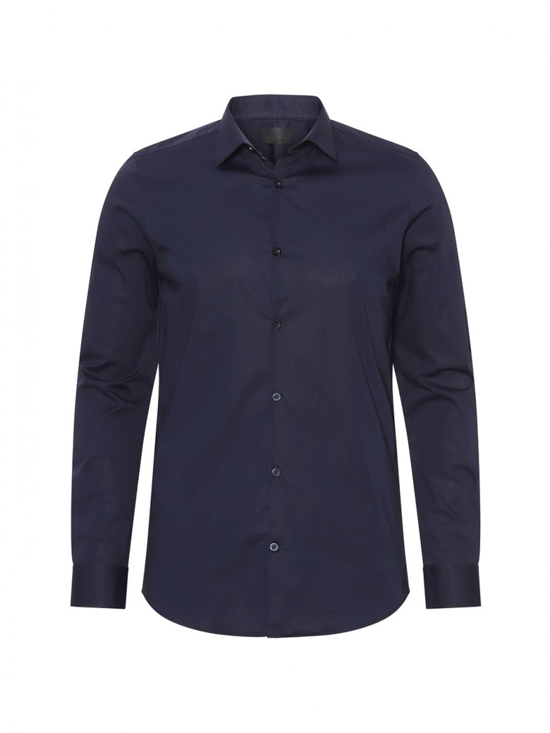 Gnious - Balder stretch skjorte i navy - Til herre - Størrelse: XL