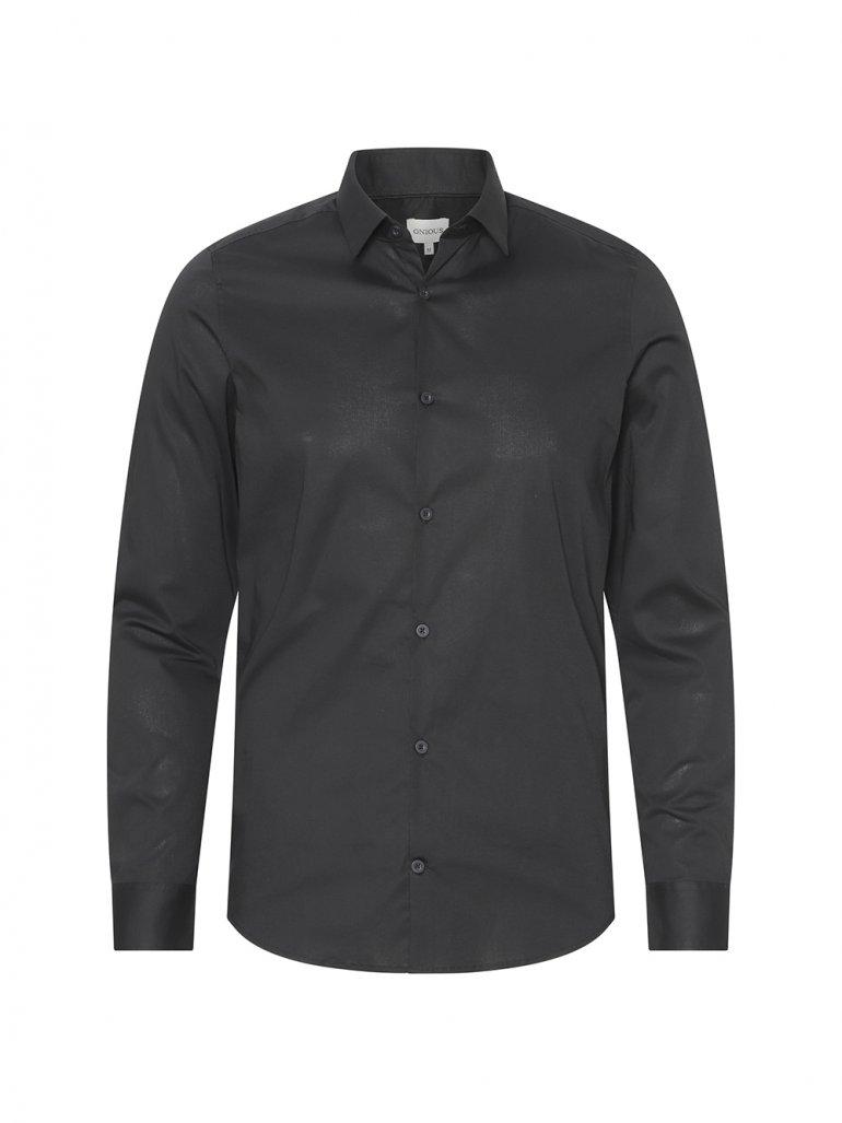 Gnious - Balder stretch skjorte i sort - Til herre - Størrelse: Small