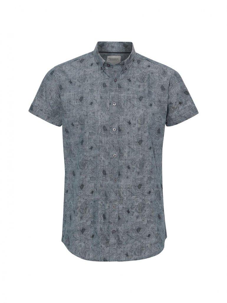 Marcus - Willum kortærmet skjorte - blå - Til herre - Størrelse: Large