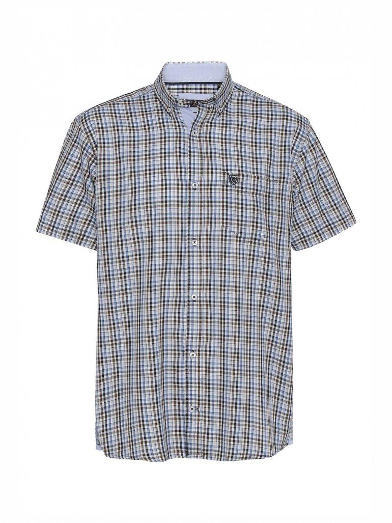Pre End - Rome kortærmet skjorte i navy - Til herre - Størrelse: Large