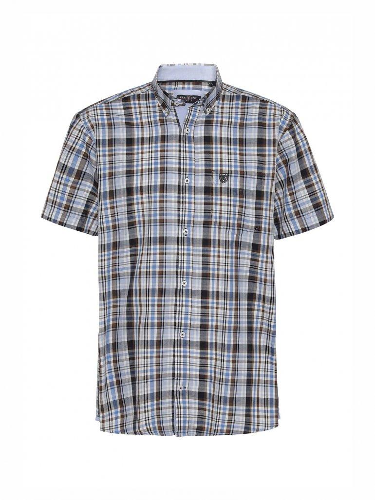 Pre End - Rome kortærmet skjorte i blå - Til herre - Størrelse: XL