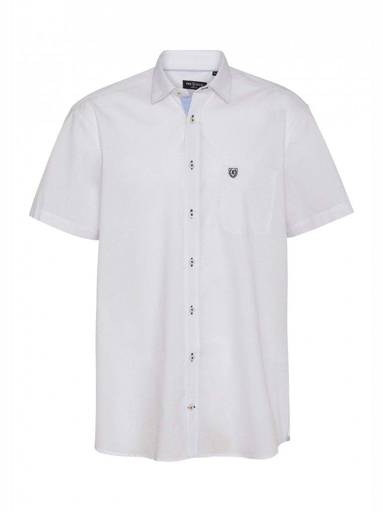 Pre End - Michigan kortærmet skjorte i hvid - Til herre - Størrelse: XL