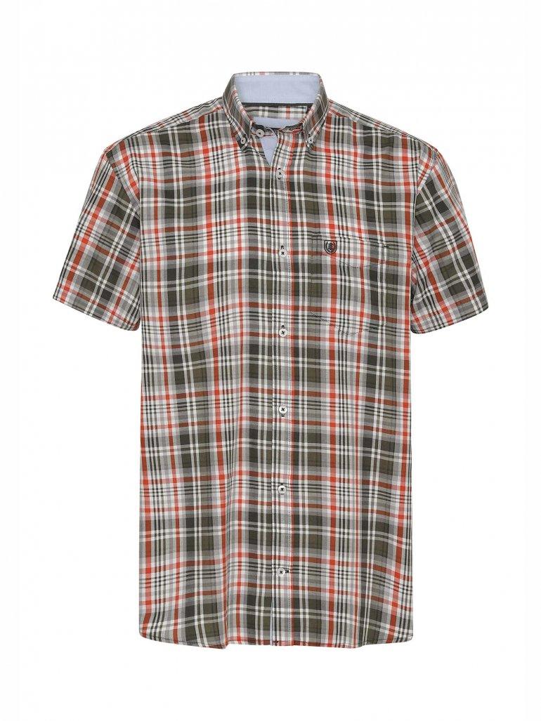 Pre End - Rome kortærmet skjorte i grøn - Til herre - Størrelse: XL