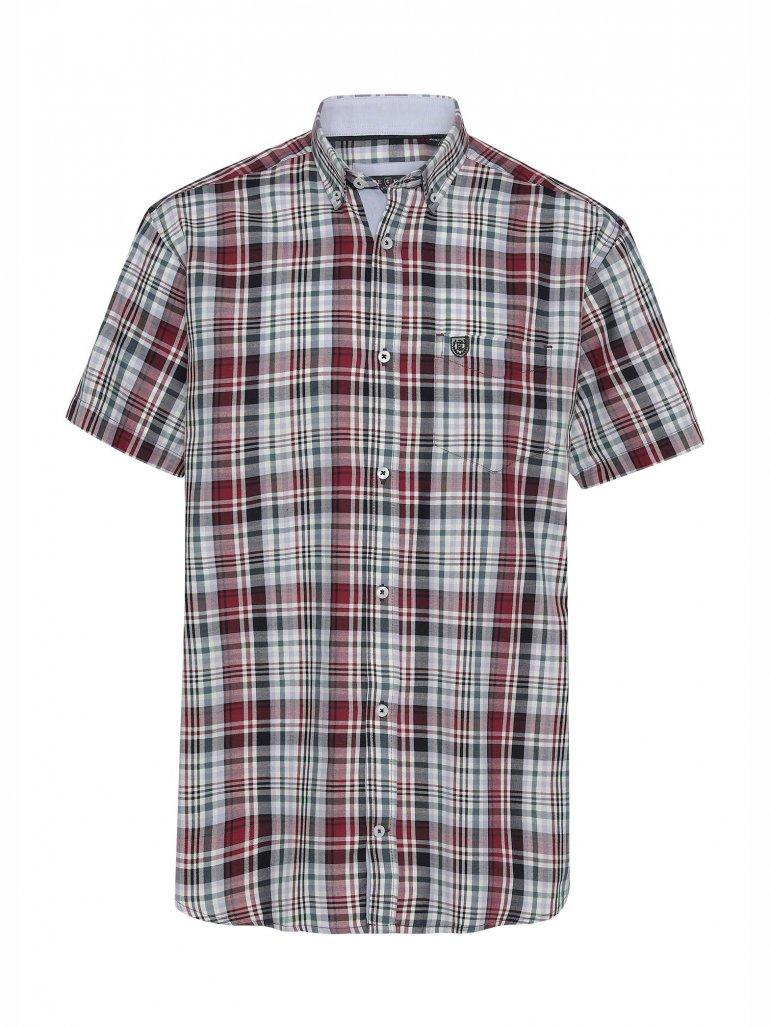 Pre End - Rome kortærmet skjorte i rød - Til herre - Størrelse: XL